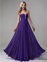 cheap -A-Line Strapless Floor Length Chiffon Prom / Formal Evening Dress with Beading by TS Couture®