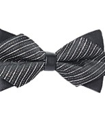 baratos -Unisexo Festa / Básico Gravata Borboleta - Laço Listrado / Estampa Colorida Preto & Branco
