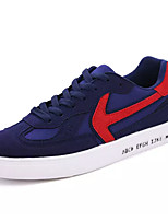 preiswerte -Herrn Leinwand / PU Herbst Komfort Sneakers Einfarbig Schwarz / Blau / Schwarz / Rot