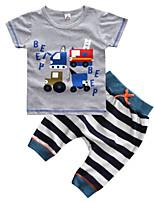 cheap -Toddler Boys' Striped / Geometric Short Sleeve Clothing Set