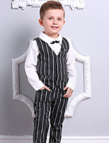 cheap -Toddler Boys' Solid Colored / Striped / Color Block Long Sleeve Clothing Set