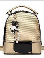 cheap -Women's Bags PU(Polyurethane) Backpack Zipper Gold / Black