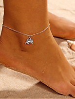 cheap -Anklet - Elephant, Animal Simple Silver For Daily / Street / Going out / Women's