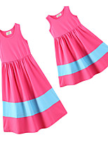 cheap -Toddler Mommy and Me Solid Colored Sleeveless Dress