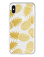 cheap -Case For Apple iPhone X / iPhone 8 Plus Pattern Back Cover Fruit Soft TPU for iPhone X / iPhone 8 Plus / iPhone 8