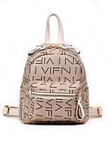 cheap -Women's Bags PU(Polyurethane) Backpack Zipper Black / Beige / Yellow