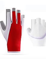 baratos -ROCKBROS Meio dedo Unisexo Motos luvas Elastano Licra / Tecido de Rede Treinador / Respirável / Non-Slip
