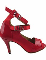 cheap -Women's Latin Shoes PU(Polyurethane) Heel Slim High Heel Dance Shoes Red / Performance / Leather / Practice