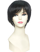 cheap -Others / Synthetic Wig / Cosplay & Costume Wigs Straight Pixie Cut / Layered Haircut Synthetic Hair Adjustable / Heat Resistant / Synthetic Black Wig Women's Short Capless / Natural Hairline