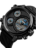 cheap -Men's Sport Watch Japanese Chronograph / Water Resistant / Water Proof / Large Dial PU Band Luxury / Creative Black