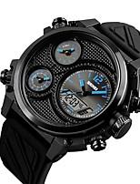 baratos -Homens Relógio Esportivo Japanês Cronógrafo / Impermeável / Mostrador Grande PU Banda Luxo / Criativo Preta