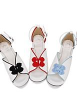 economico -Dolce / Lolita Classica e Tradizionale Principessa Polacche Scarpe Ricamato 5 cm CM Nero / Blu / Rosso Per PU