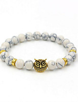 cheap -Men's Hologram Bracelet - Silver Plated, Gold Plated Owl Simple, Natural, Fashion Bracelet Gold / Silver For Gift / Daily