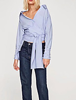 cheap -Women's Shirt - Solid Colored Beaded
