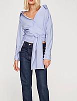 Недорогие -Жен. Бусины Рубашка Однотонный
