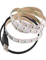 economico -1m Strisce luminose LED flessibili 60 LED 2835 SMD Bianco caldo / Bianco Accorciabile / USB / Decorativo Alimentazione USB 1pc / Auto-adesivo