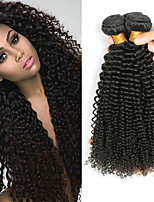 cheap -Indian Hair Curly Natural Color Hair Weaves / Human Hair Extensions 4 Bundles 8-28 inch Human Hair Weaves Machine Made Best Quality / New Arrival / For Black Women Natural Black Human Hair Extensions