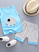 cheap -Baby Girls' Striped Short Sleeve Clothing Set
