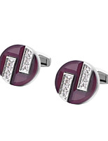 cheap -Geometric Purple Cufflinks Copper Formal / Classic All Costume Jewelry For Wedding