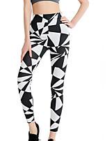 abordables -Mujer Diario Básico Legging - Geométrico, Estampado Media cintura