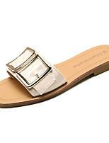 cheap -Women's Shoes PU(Polyurethane) Spring & Summer Slingback Slippers & Flip-Flops Flat Heel Knee High Boots Black / Red / Green