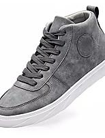 cheap -Men's Suede / PU(Polyurethane) Summer Comfort Sneakers Black / Gray / Khaki