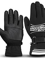 preiswerte -ROCKBROS Vollfinger Unisex Motorrad-Handschuhe Leder / Stoff warm halten / Reflexstreiffen / Rutschfest