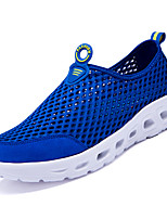 cheap -Men's Shoes Mesh / Cowhide Summer Comfort Loafers & Slip-Ons Dark Grey / Light Grey / Blue