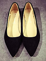 cheap -Women's Shoes Suede Summer Comfort / Basic Pump Heels Low Heel Black / Gray / Pink