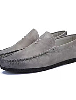 cheap -Men's Shoes PU(Polyurethane) Fall Moccasin Loafers & Slip-Ons Black / Gray / Brown