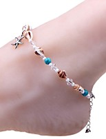 cheap -Anklet - Sweet, Fashion Silver For Daily / Bikini / Women's