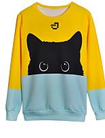 cheap -Men's Active / Basic Long Sleeve Sweatshirt - Animal, Print