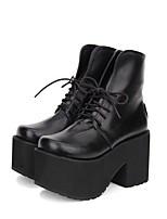 abordables -Gothique / Punk Punk Creepers Chaussures Couleur Pleine 10 cm CM Noir Pour PU