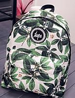 cheap -Women's Bags Canvas Backpack Pattern / Print / Zipper Green