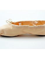 abordables -Fille Chaussures de Ballet Toile Plate Talon transparent plaqué or Personnalisables Chaussures de danse Rose