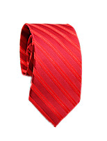 cheap -Men's Work / Basic Cotton / Polyester Necktie - Solid Colored / Striped / All Seasons