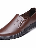 cheap -Men's Shoes Faux Leather Spring Comfort Loafers & Slip-Ons Black / Brown