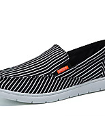 cheap -Men's Shoes Canvas Summer Comfort Loafers & Slip-Ons White / Black / Striped