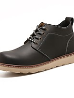 cheap -Men's Combat Boots PU(Polyurethane) Autumn / Fall Boots Booties / Ankle Boots Black / Coffee