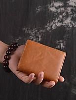 cheap -Men's Bags Cowhide Wallet Embossed Coffee / Brown