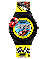 cheap -SKMEI Kids Digital Watch Digital Sporty PU Leather Blue / Red / Yellow 30 m Creative Lovely Digital Cartoon - Blue Red Yellow One Year Battery Life