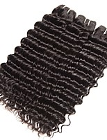 cheap -Indian Hair Curly Natural Color Hair Weaves / Human Hair Extensions 3 Bundles 8-28 inch Human Hair Weaves Capless Fashionable Design / Best Quality / For Black Women Natural Black Human Hair
