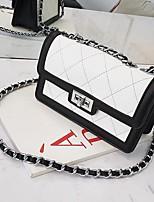 cheap -Women's Bags PU(Polyurethane) Shoulder Bag Buttons White / Black / Blushing Pink