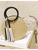 cheap -Women's Bags PU(Polyurethane) Shoulder Bag Zipper / Tassel White / Black / Yellow
