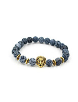 preiswerte -Herrn Achat Strang-Armbänder - versilbert, vergoldet Tiere, Natur, Modisch Armbänder Gold / Silber Für Geschenk / Alltag