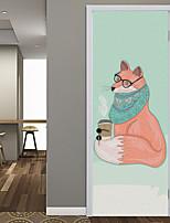 abordables -Autocollants muraux décoratifs / Autocollants de porte - Autocollants muraux animaux / Location Stickers muraux Animaux / Noël Salle de
