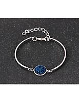 abordables -Femme Chaîne unique Manchettes Bracelets - Doux, Mode Bracelet Violet / Bleu / Champagne Pour Soirée / Rendez-vous