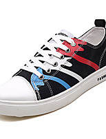 cheap -Men's Canvas Summer / Fall Comfort Sneakers Color Block Black / Gray / Blue