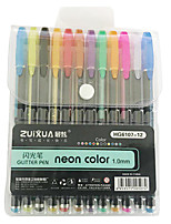 cheap -Gel Pen Pen Pen, Plastics Multi-Color Ink Colors For School Supplies Office Supplies Pack of 12 pcs