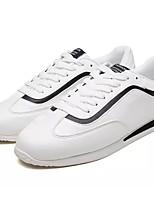 Недорогие -Муж. Полиуретан Лето Удобная обувь Кеды Контрастных цветов Белый / Красный / Черно-белый